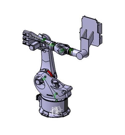 △研发中心研制的高精度机械臂设计图