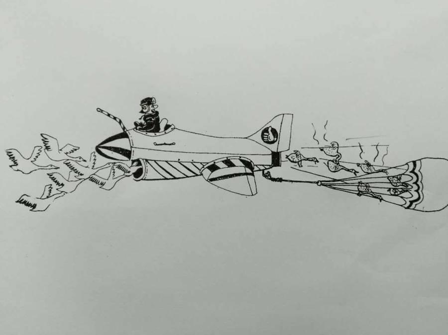 绘画手工航天海报